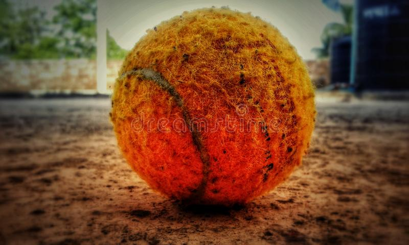 Pallina da tennis Cricketing fotografia stock