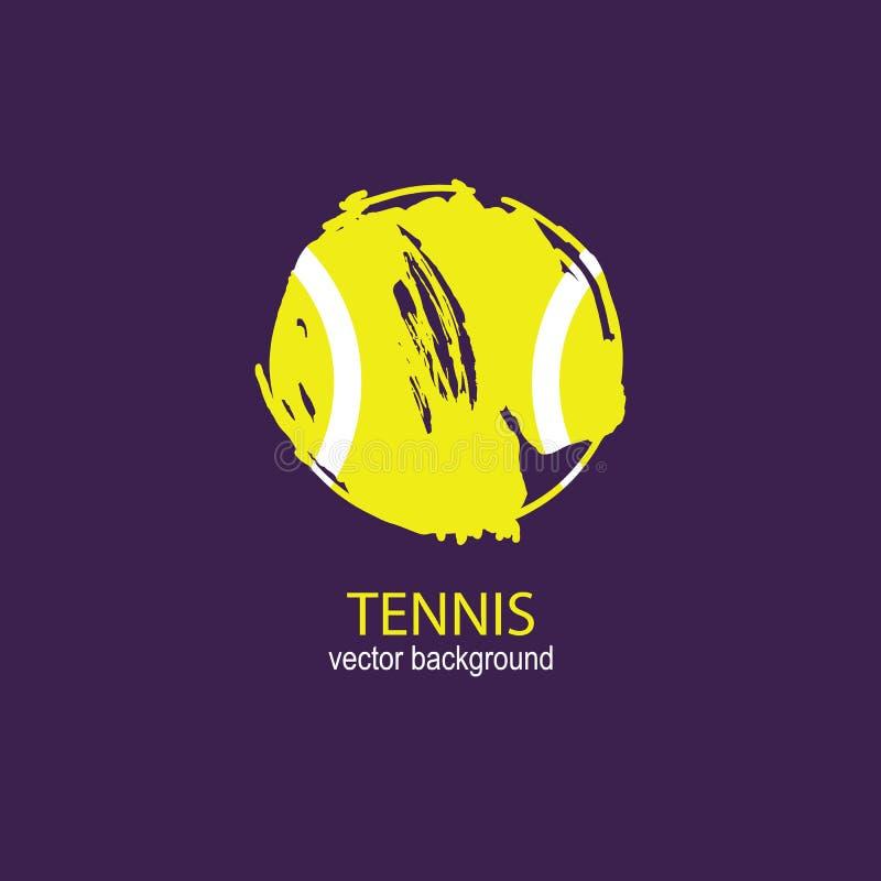 Pallina da tennis di lerciume dell'estratto di vettore Elemento di sport per il manifesto di progettazione, copertura, aletta di  royalty illustrazione gratis