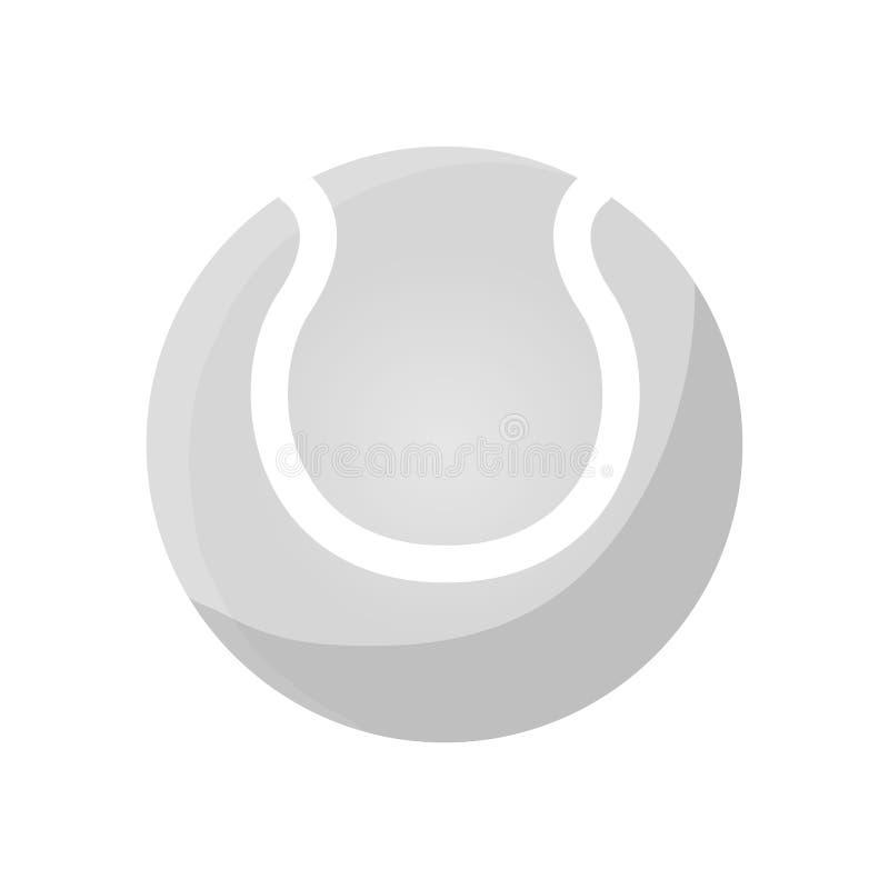 Pallina da tennis isolata illustrazione vettoriale