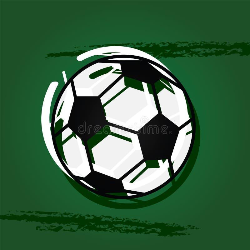 Pallone da calcio alla moda illustrazione di stock