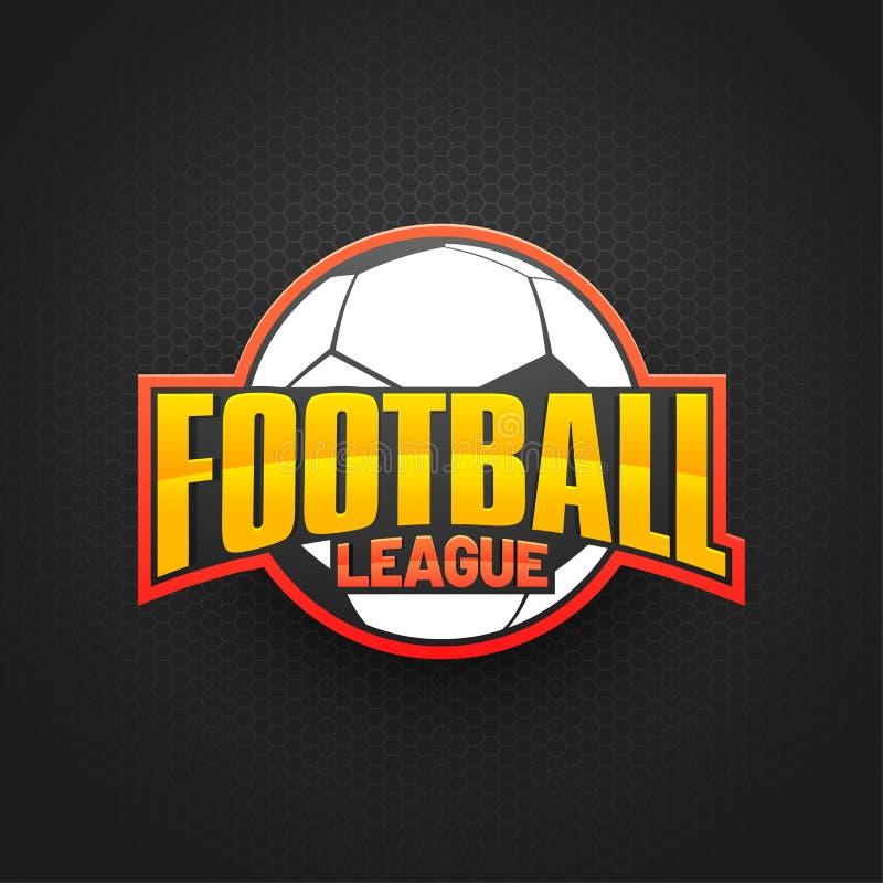 Pallone da calcio alla moda e lega di football americano dorata del testo su Grey Back illustrazione vettoriale