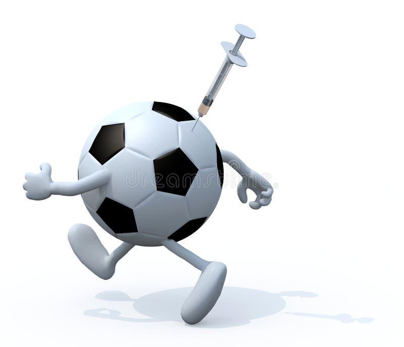 Pallone da calcio che vernicia i concetti illustrazione di stock