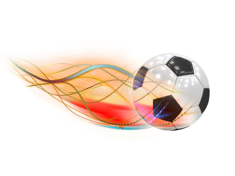 Pallone da calcio classico con la coda della cometa fotografia stock
