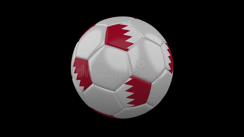 Pallone da calcio con la bandiera Bahrain, rappresentazione 3d royalty illustrazione gratis