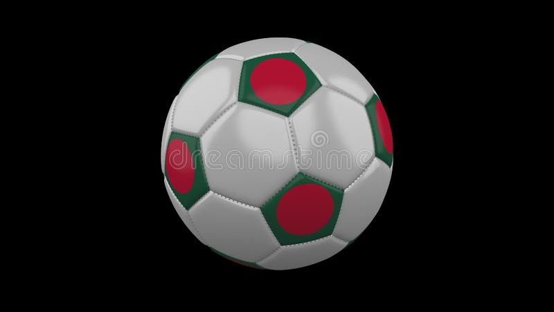 Pallone da calcio con la bandiera Bangladesh, rappresentazione 3d royalty illustrazione gratis