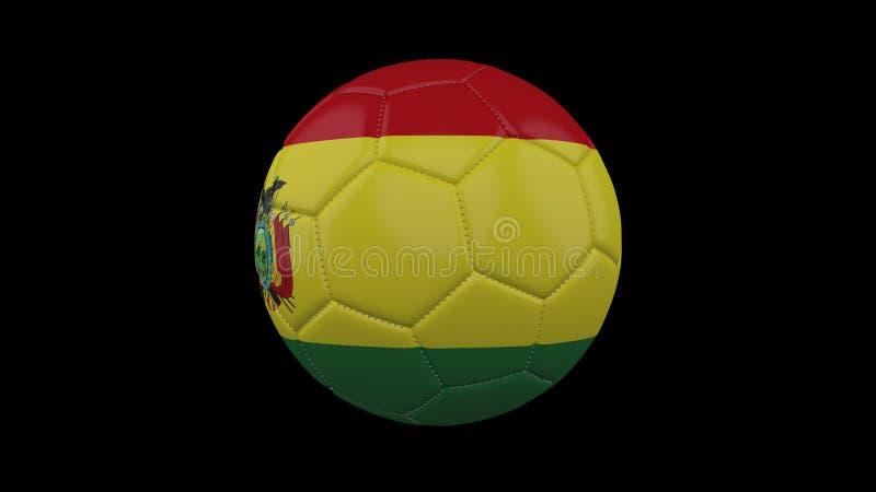 Pallone da calcio con la bandiera Bolivia, rappresentazione 3d illustrazione di stock