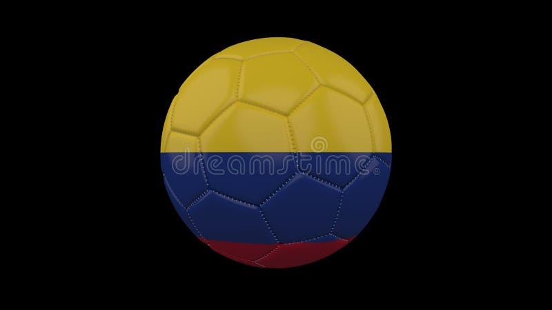 Pallone da calcio con la bandiera Colombia, rappresentazione 3d royalty illustrazione gratis