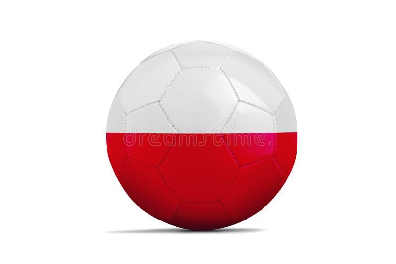 Pallone da calcio con la bandiera del gruppo, Russia 2018 poland illustrazione vettoriale