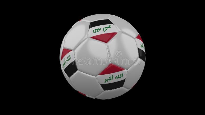 Pallone da calcio con la bandiera Irak, rappresentazione 3d illustrazione vettoriale