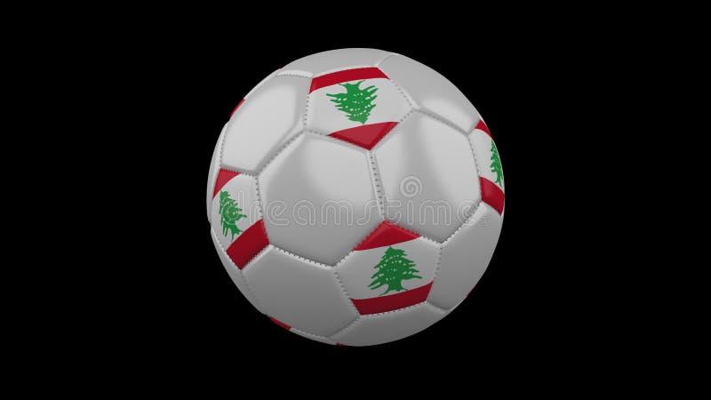 Pallone da calcio con la bandiera Libano, rappresentazione 3d royalty illustrazione gratis
