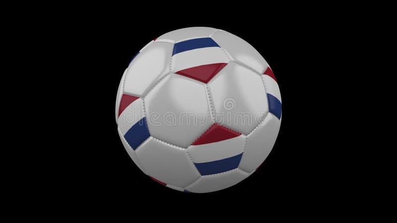 Pallone da calcio con la bandiera Paesi Bassi, rappresentazione 3d illustrazione di stock