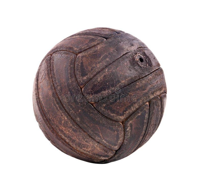 Pallone da calcio d'annata immagini stock libere da diritti