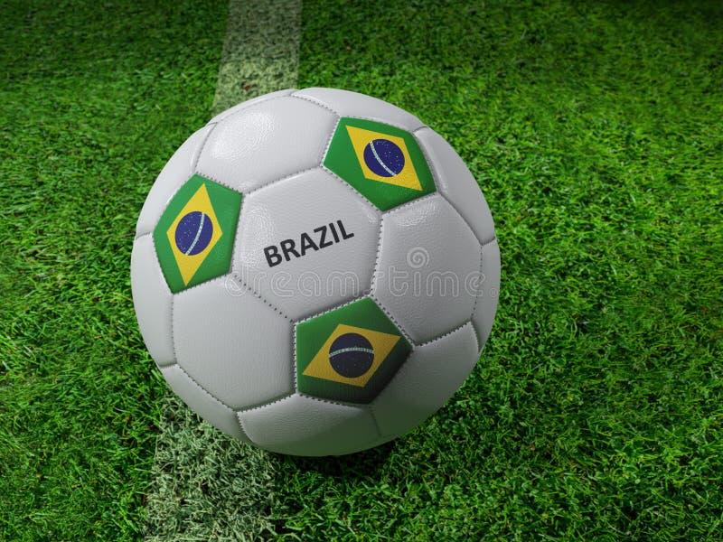 Pallone da calcio del Brasile illustrazione di stock