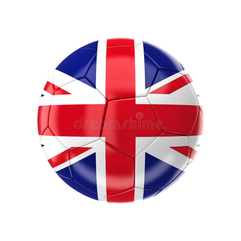 Pallone da calcio di Union Jack royalty illustrazione gratis
