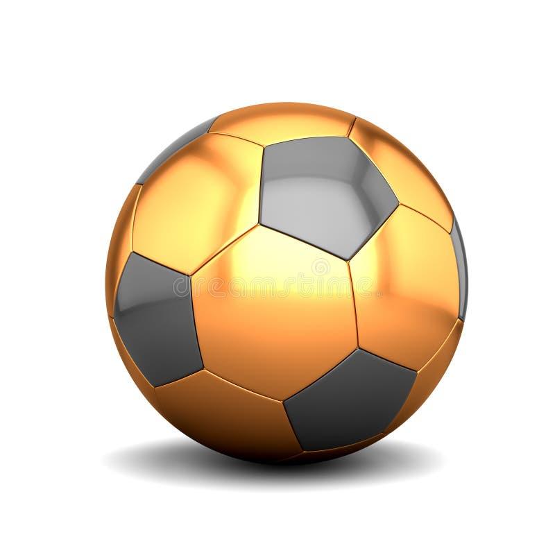 Pallone da calcio dorato royalty illustrazione gratis