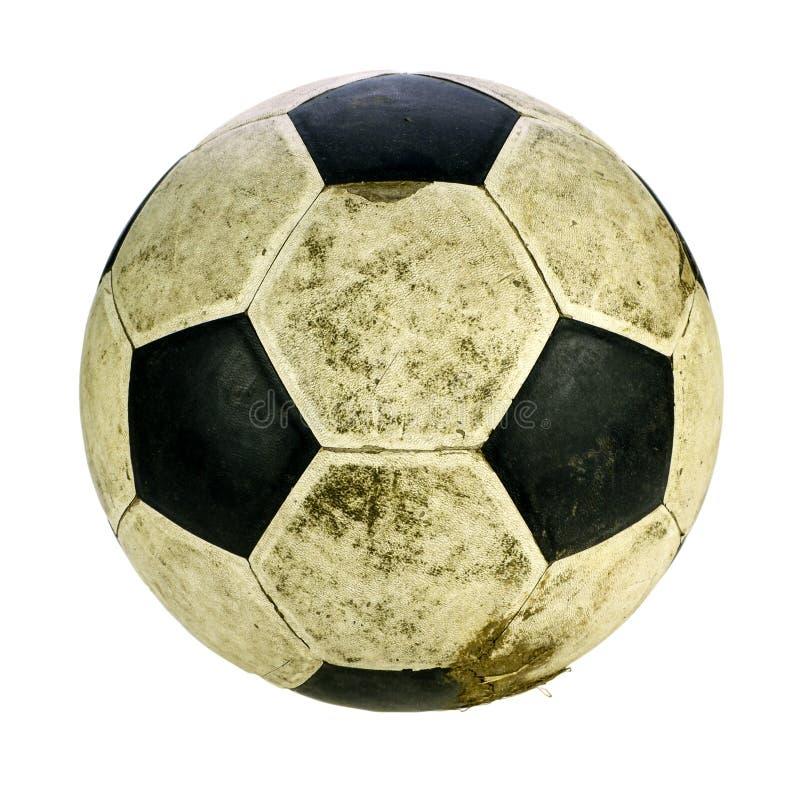 Pallone da calcio misero su fondo bianco con il taglio del PA fotografia stock libera da diritti