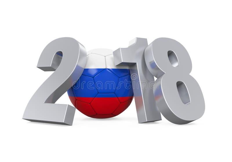 Pallone da calcio Russia 2018 illustrazione di stock