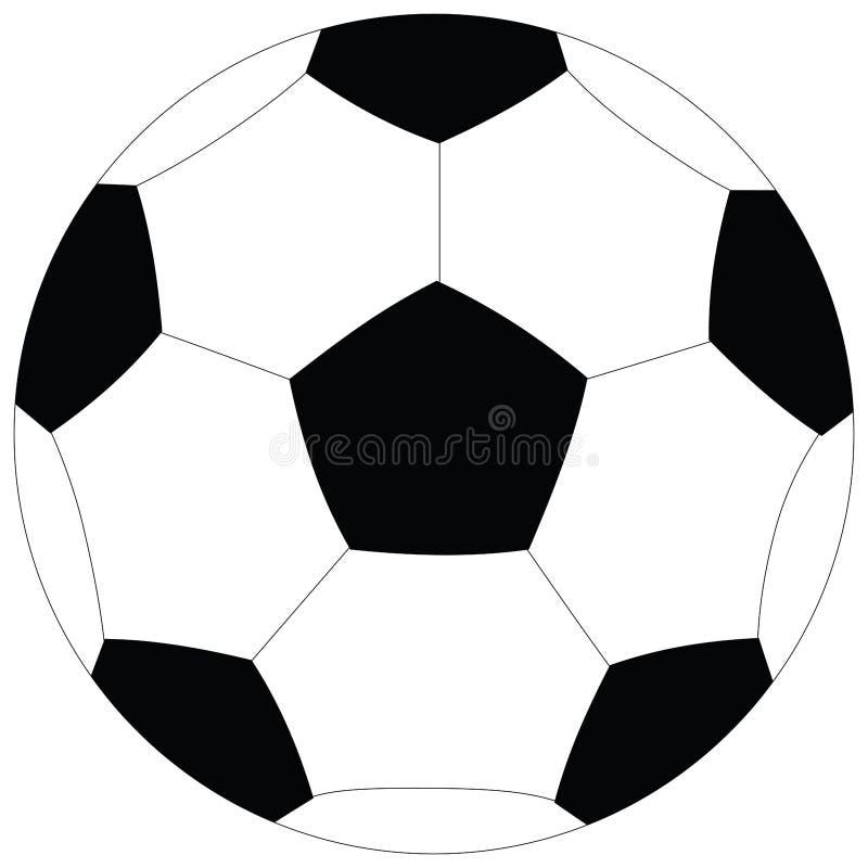 Pallone da calcio su un fondo bianco trama illustrazione - Pagina da colorare di un pallone da calcio ...