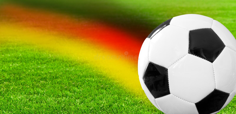 Pallone da calcio tedesco immagini stock