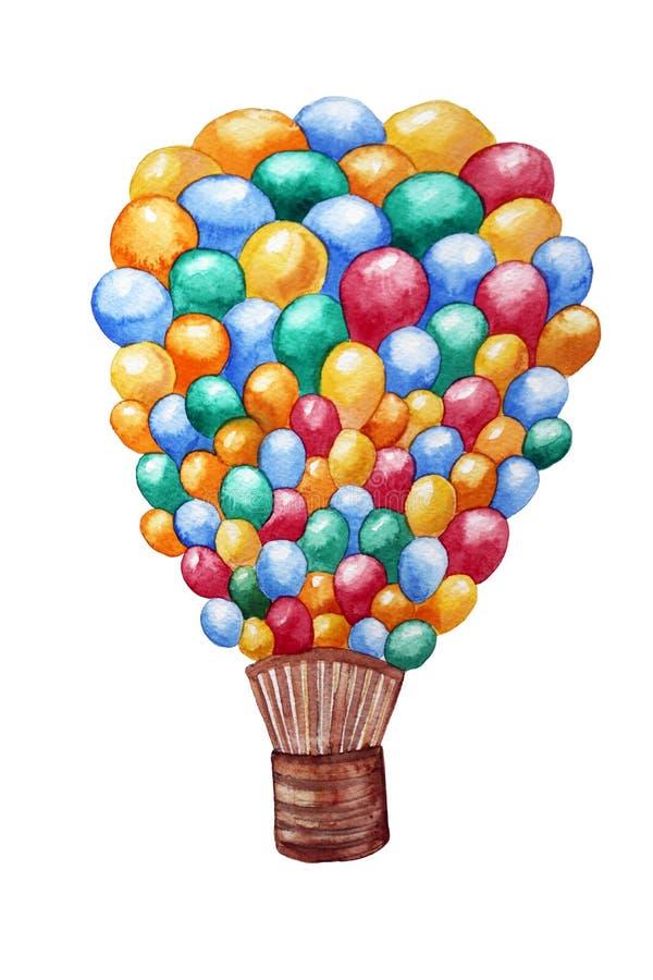 Pallone della pluralità di acquerello delle palle illustrazione vettoriale