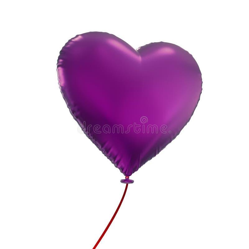 Pallone della Purple Heart al valor militare isolato su fondo bianco royalty illustrazione gratis