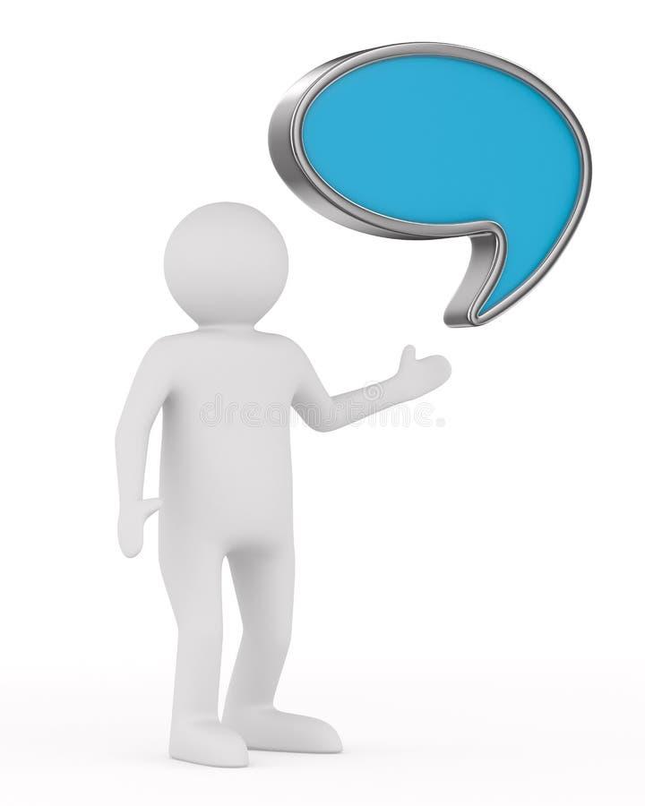 Pallone di conversazione su fondo bianco illustrazione vettoriale