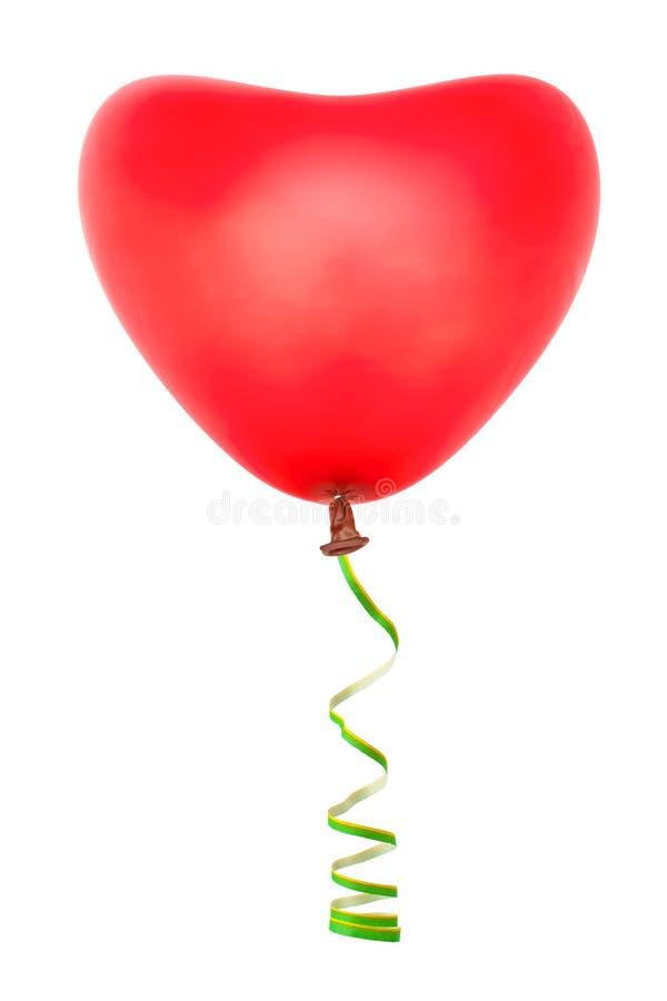 Pallone e fiamma a forma di del cuore immagini stock