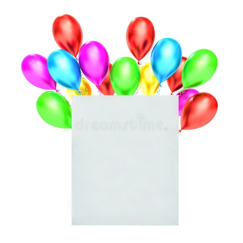 Download Palloni 3d E Spazio In Bianco Bianco Illustrazione di Stock - Illustrazione di estratto, telaio: 55355855
