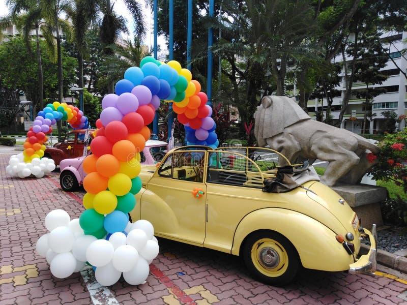 Palloni decorativi ad un carnevale immagine stock