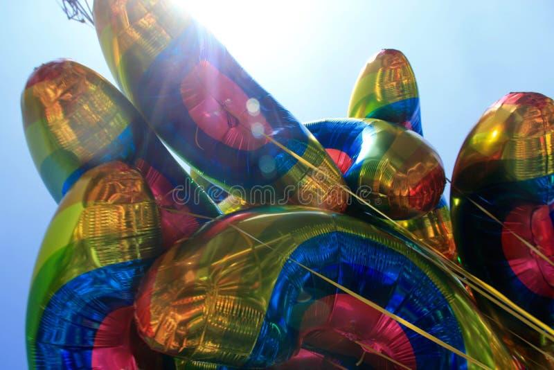 Palloni dell'arcobaleno a Dublin Pride immagine stock