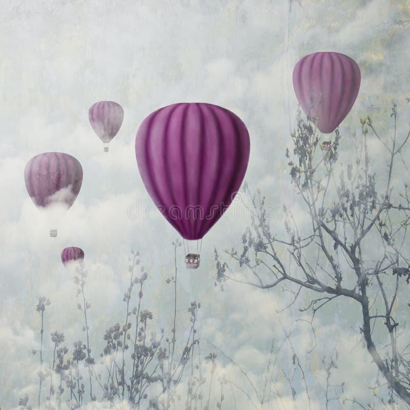 Palloni rosa illustrazione di stock