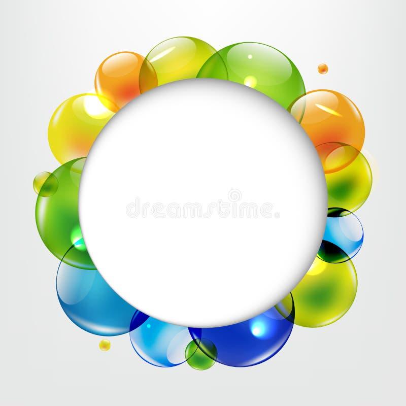 Palloni di dialogo con le palle di colore royalty illustrazione gratis