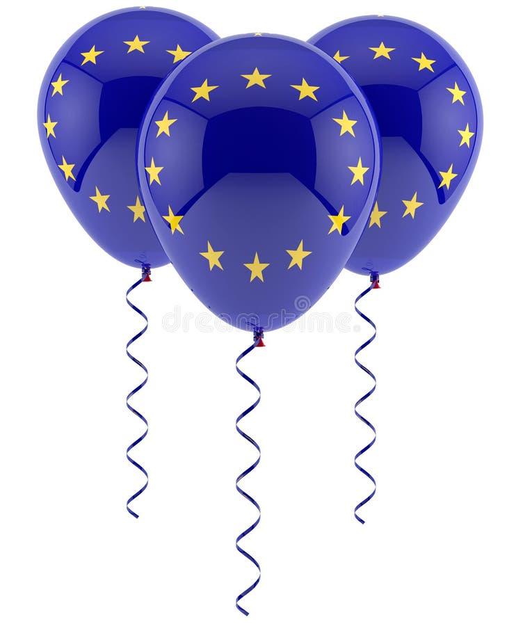 Palloni Di UE - Bandiera Fotografia Stock Libera da Diritti