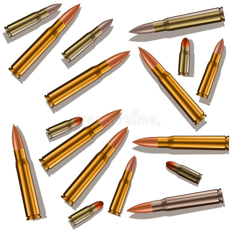 pallottole illustrazione vettoriale