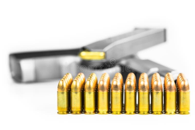 Pallottole con la pistola fotografia stock libera da diritti