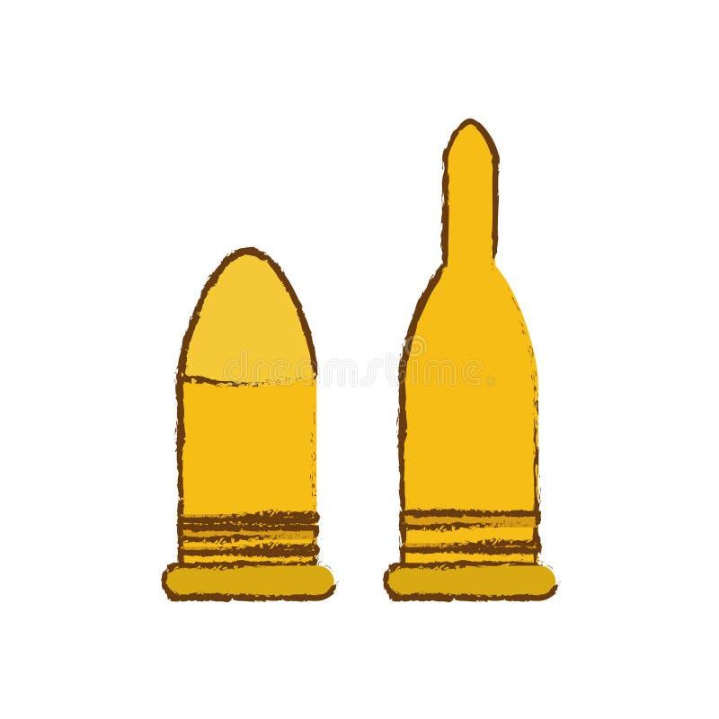 Pallottole per le armi militari, illustrazione royalty illustrazione gratis