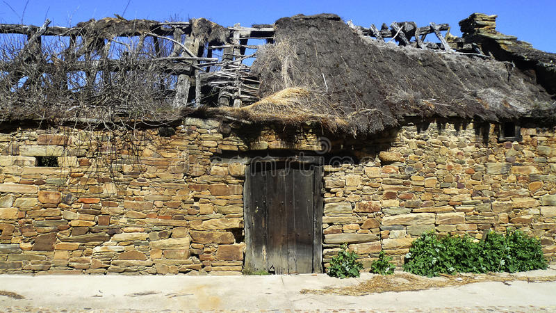 Palloza. oud Huis stock foto's