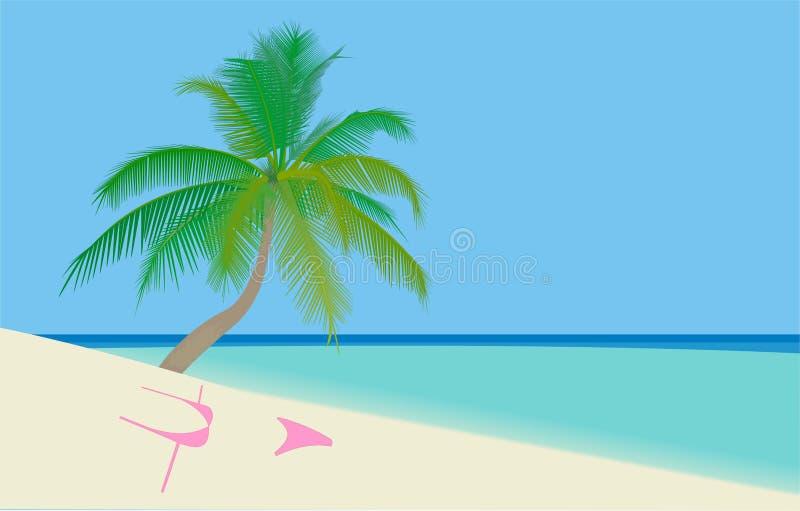 Palm Beach illustrazione di stock