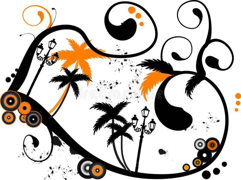 Palm beach royalty free illustration