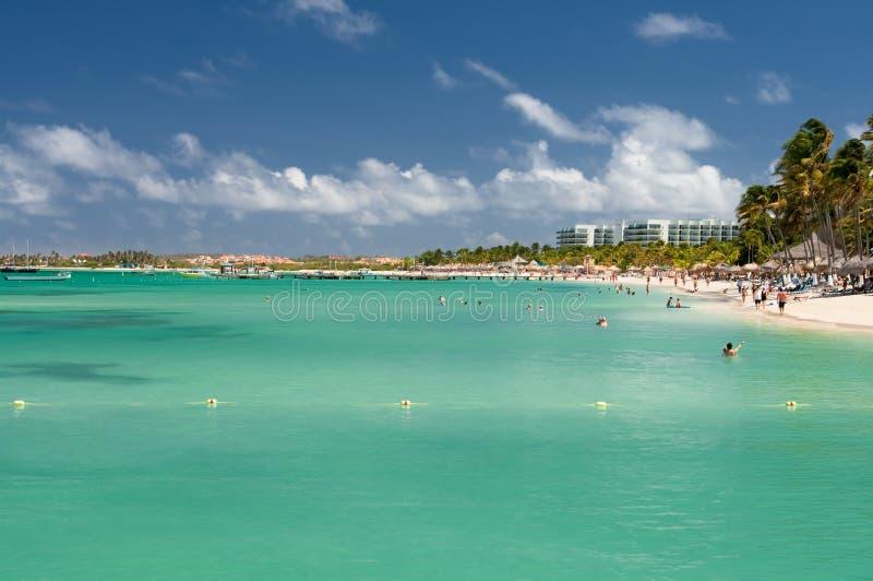 Palm Beach Aruba royalty-vrije stock foto