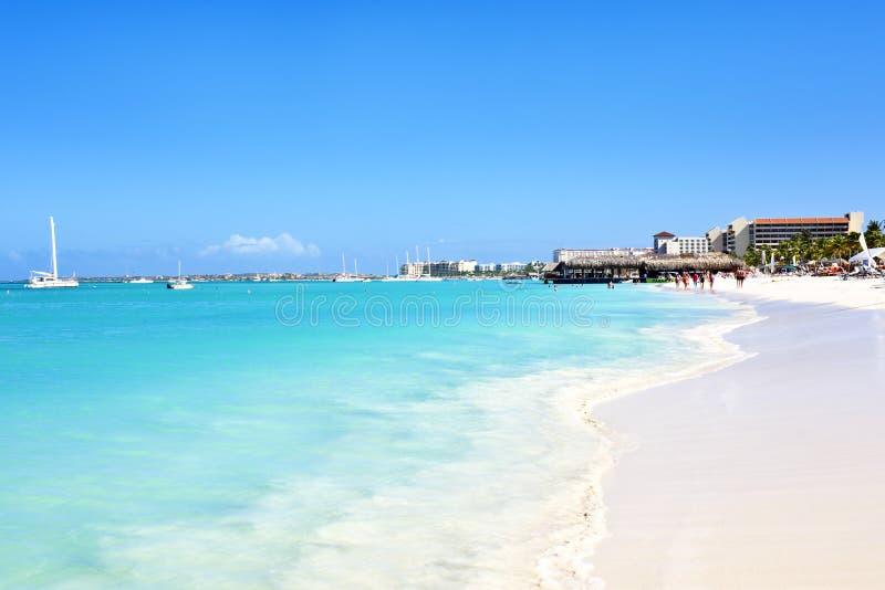 Palm Beach in Aruba royalty-vrije stock afbeeldingen