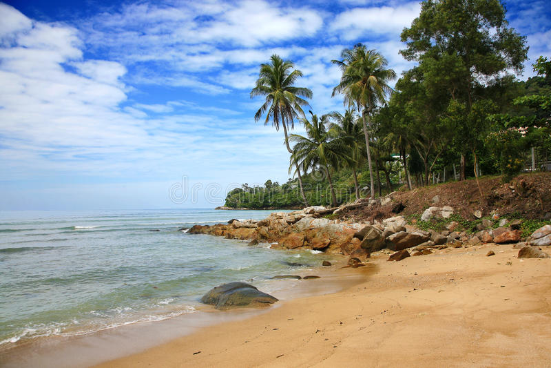 Palm Beach, isla de Phuket, Tailandia fotografía de archivo libre de regalías