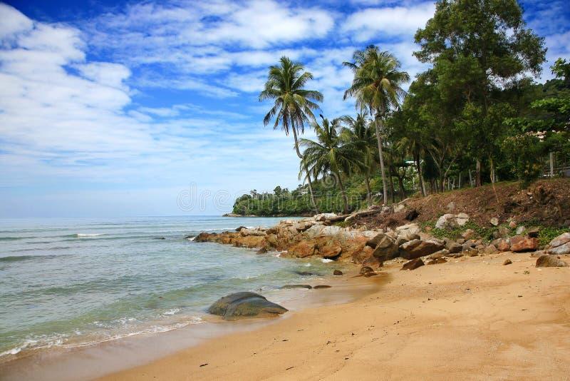 Palm Beach Phuket ö, Thailand royaltyfri fotografi