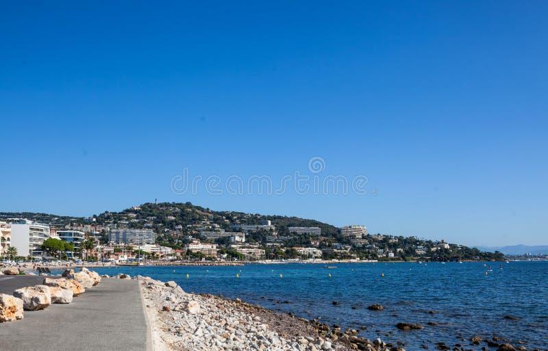 Palm Beach przy punktem Croisette w Cannes, Francja obrazy royalty free