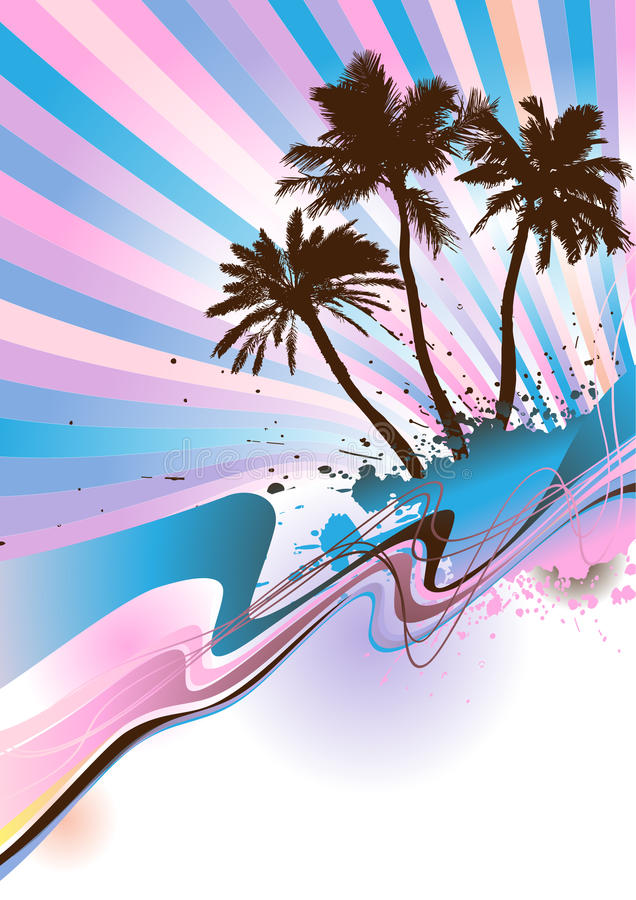 Free Palm Beach Vector Royalty Free Stock Image - 10108086