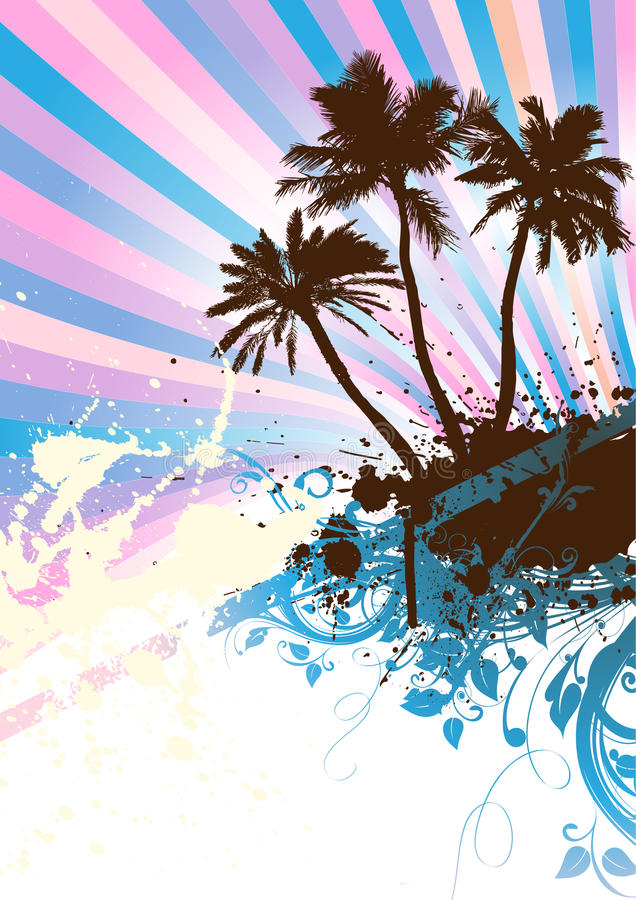 Download Palm beach Vector stock vector. Image of celebration - 10108100