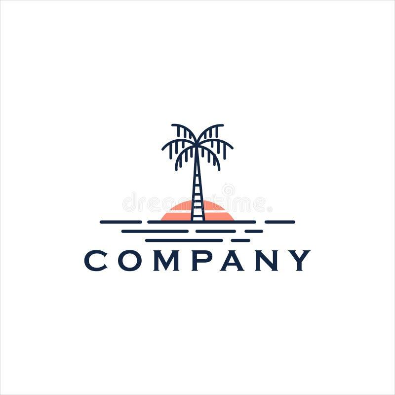 Free Palm Beach Vector Logo Landscape Line Art Stock Photos - 181537963