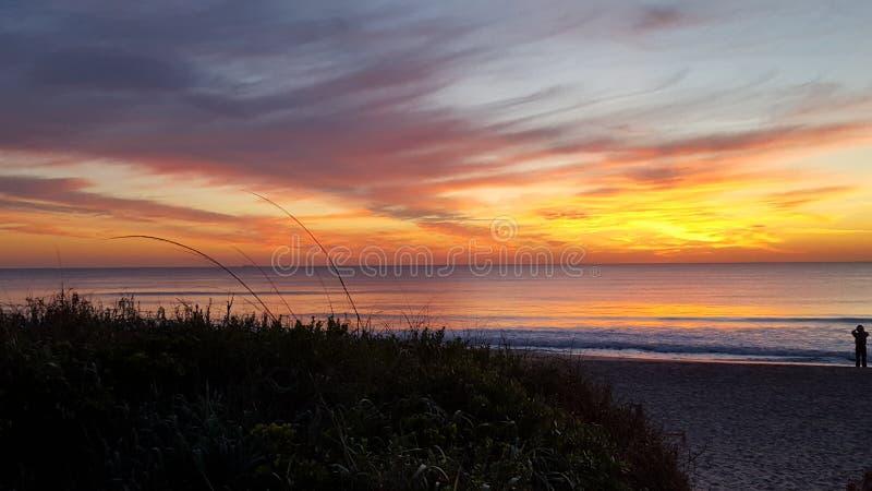 palm beach wschód słońca obrazy stock