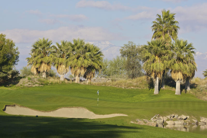 Palm Desert Golf royaltyfria bilder