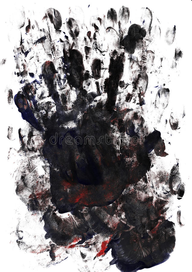 Palm And Finger Prints Stock Images